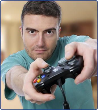 Man Holding a Controller